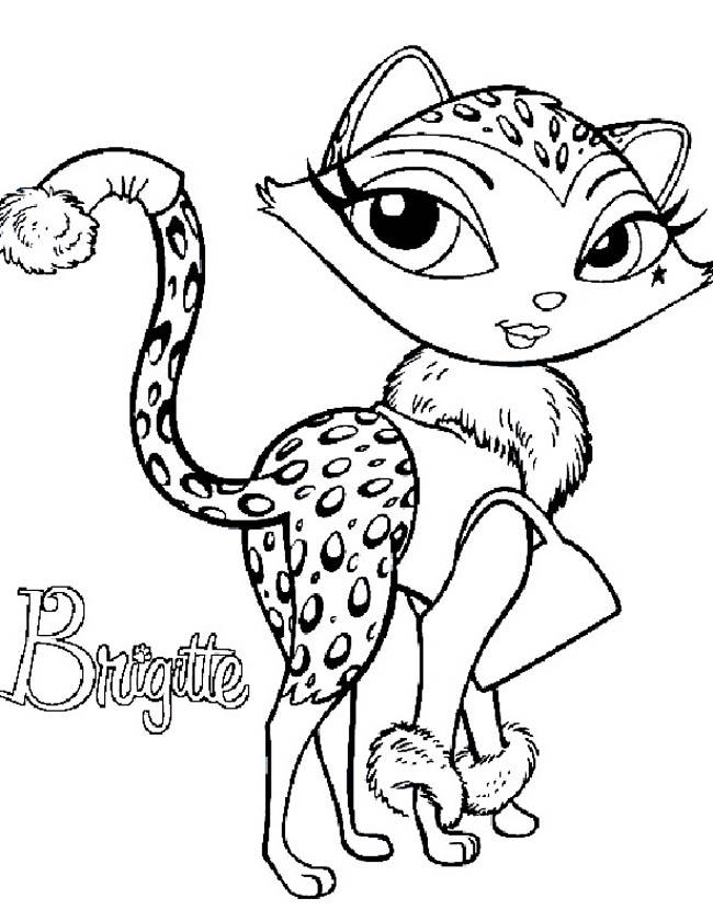 Gratis kleurplaat Bratz Brigitte