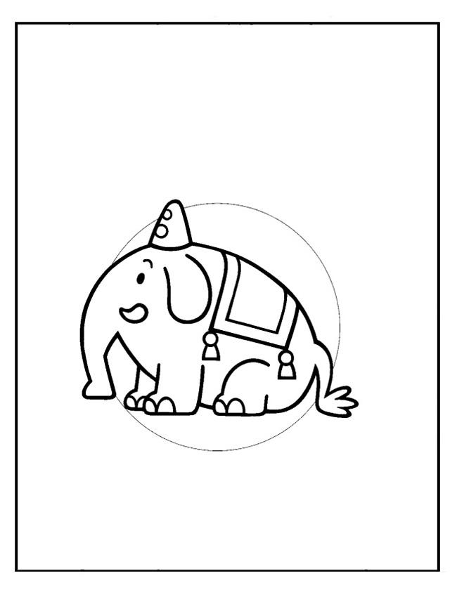 Gratis kleurplaat tumbi de olifant