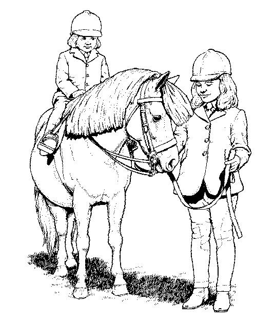 Kleurplaten Paard En Ruiter.Kleuren Nu Een Jonge Ruiter Op Een Paard Kleurplaten