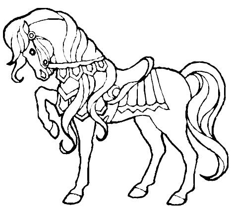 Gratis kleurplaat paard 12