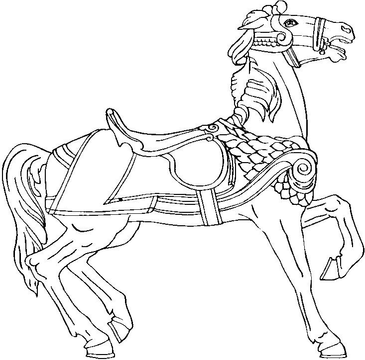 Gratis kleurplaat paard 14