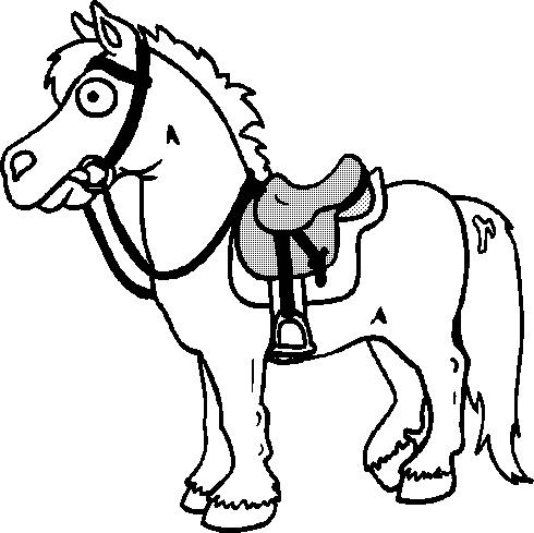 Gratis kleurplaat paard 8