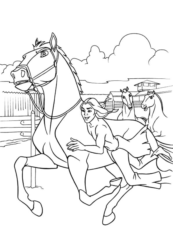 Gratis kleurplaat paard spirit