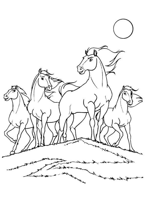 Kleurplaat Kerst Kleuren Nu Paard Spirit Kleurplaten