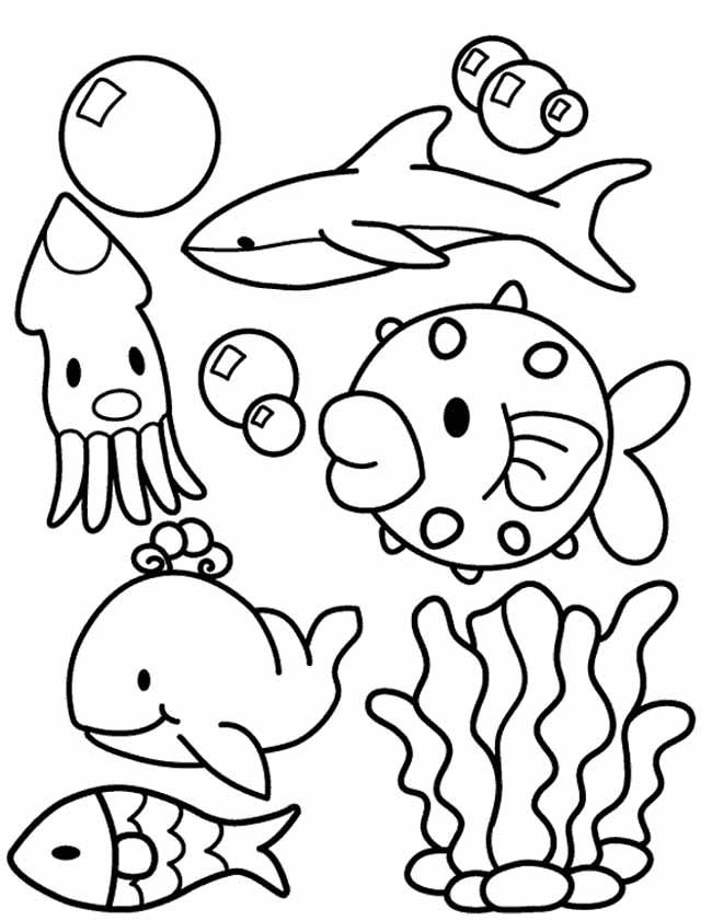 Kleurplaten Dieren Onder Water.Kleuren Nu Onderwater Collage Kleurplaten