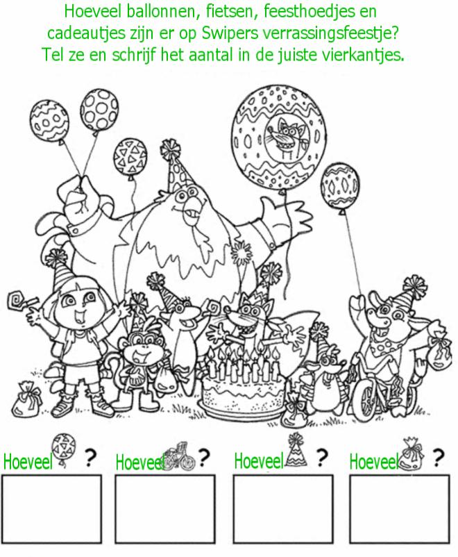 Kleuren Nu Feest Dora En Vriendjes Kleurplaten