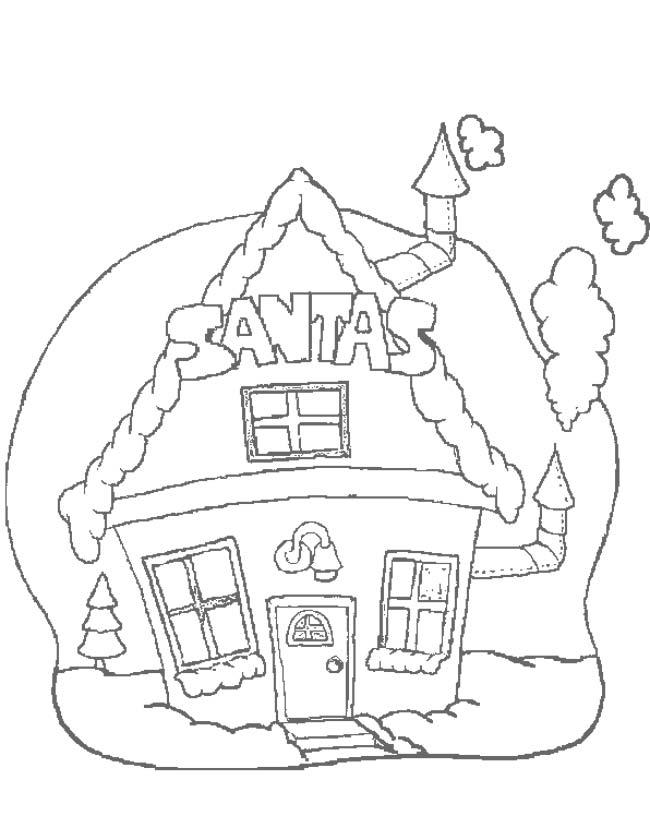 Kleurplaten Het Huis.Kleuren Nu Het Huis Van De Kerstman Kleurplaten