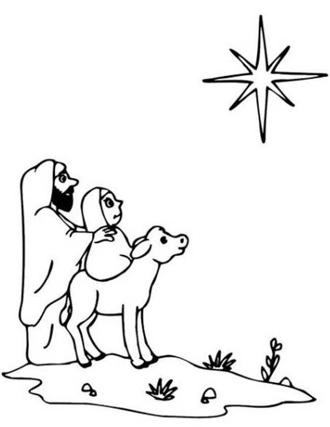 Kleuren Nu Jozef En Maria Onderweg Naar Bethlehem Kleurplaten