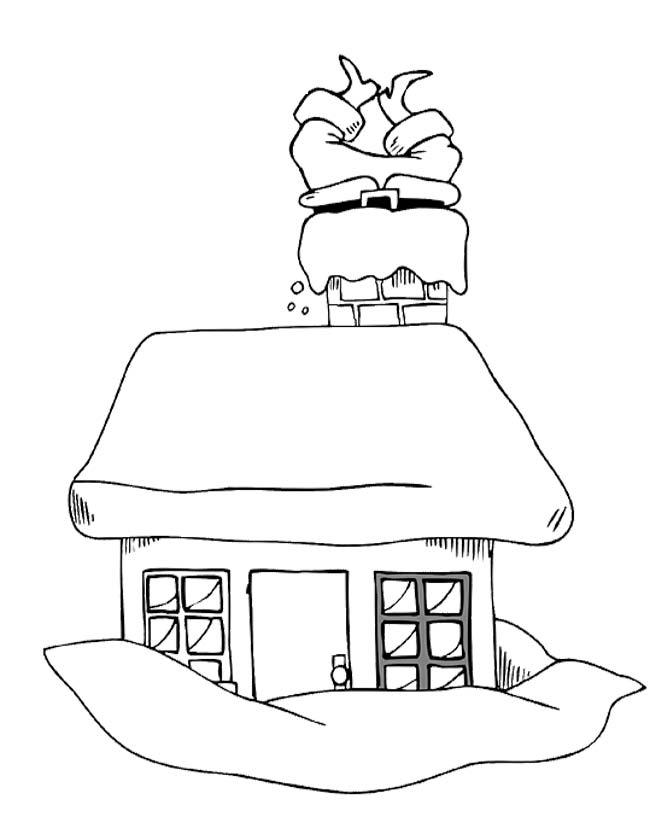 Kleurplaat Kerst Huis Idee 235 N Over Kleurpagina S Voor