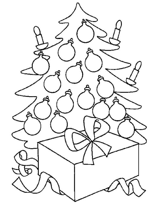 Grote Kleurplaten Kerstboom.Kleuren Nu Kerstboom Met Kadootjes Kleurplaten