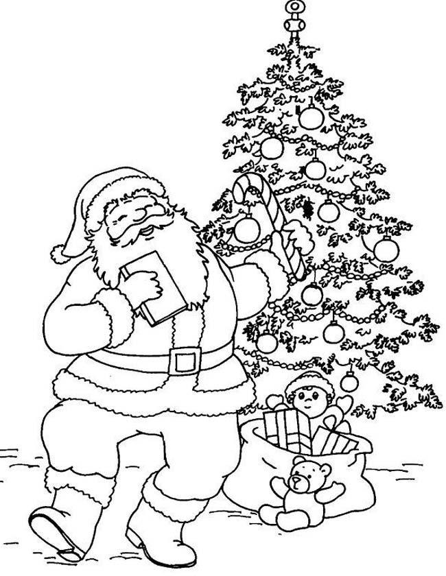 Gratis kleurplaat Dansende kerstman