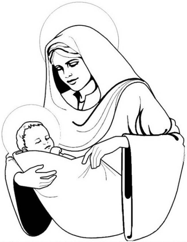 Kleurplaat Kerst Maria Idee 235 N Over Kleurpagina S Voor