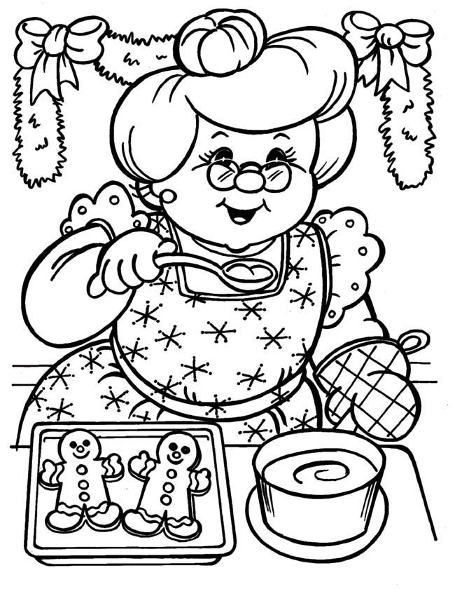 Kleurplaten Voor Je Oma.Kleuren Nu Oma Bakt Kerst Koekjes Kleurplaten