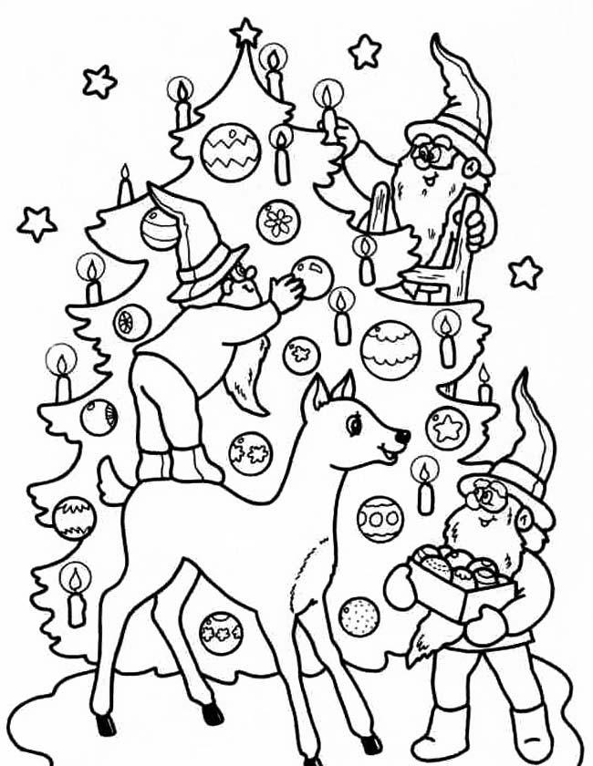 Kerst Kleurplaat Kerstboom Parksidetraceapartments
