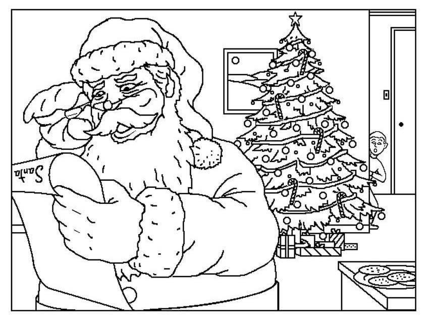 Kleuren Nu Kerstman Met Verlanglijstje Kleurplaten