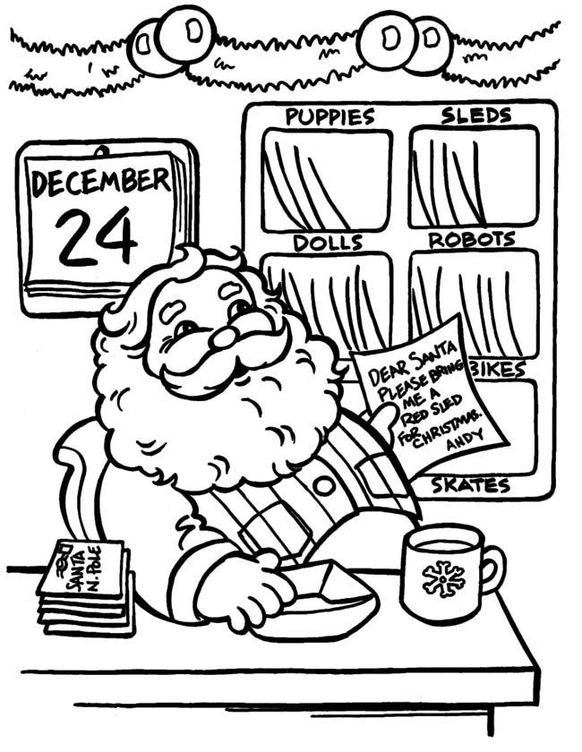 Gratis kleurplaat Verlanglijstje van de kerstman