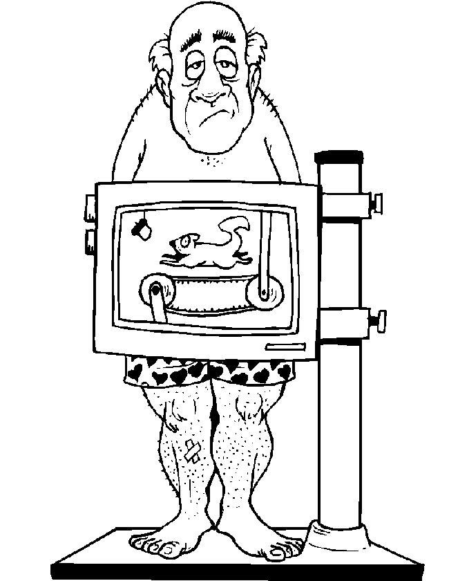 Gratis kleurplaat man voor scanner