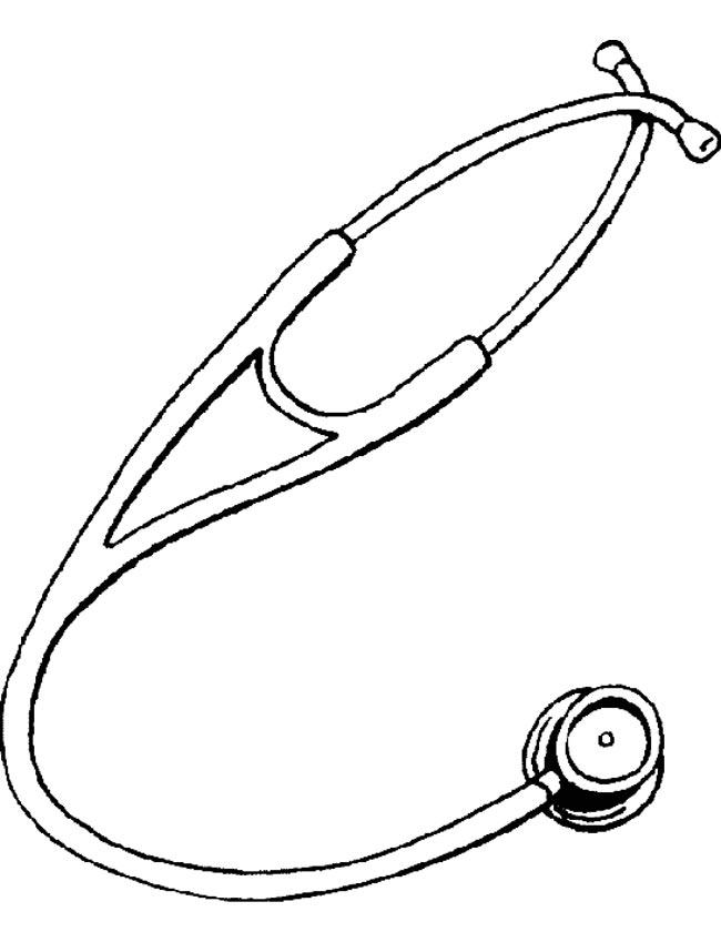 Gratis kleurplaat stetoscoop