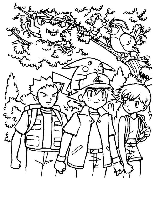 Kleurplaten Van Dieren In Het Bos.Kleuren Nu Pokemon In Het Bos Kleurplaten