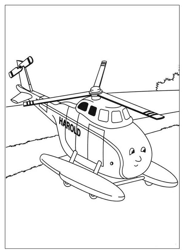 Gratis kleurplaat harold de helikopter