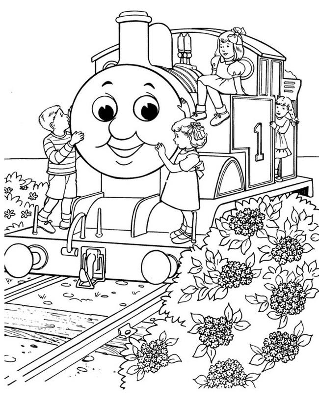 Kleuren Nu Kinderen Spelen Met Thomas Kleurplaten