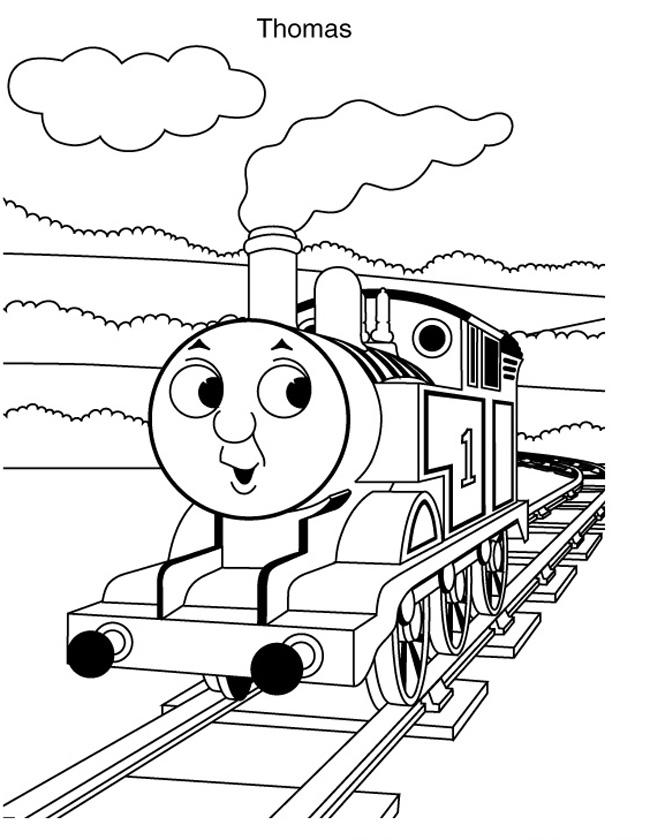 Gratis kleurplaat op het spoor