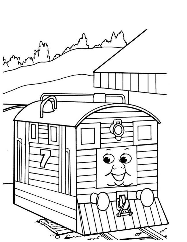Gratis kleurplaat wagon aankoppelen