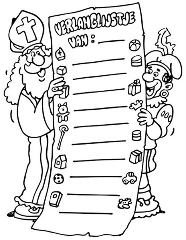 Snoep Sinterklaas Kleurplaat Kleuren Nu Verlanglijstje Met Snoep Kleurplaten