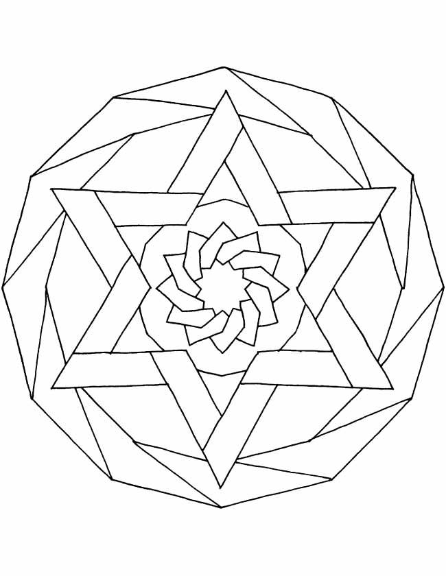 Kleurplaten Mandala Sterren.Kleuren Nu Mandala Sterrenpatroon Kleurplaten