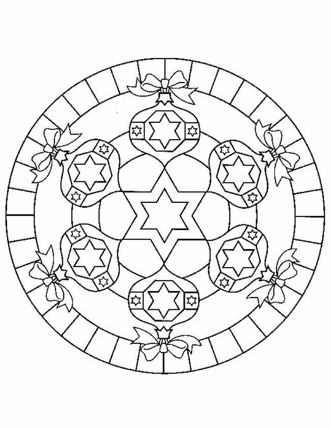 Gratis kleurplaat Strikjes mandala
