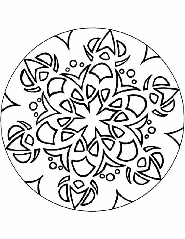 Gratis kleurplaat Mandala figuurtjes