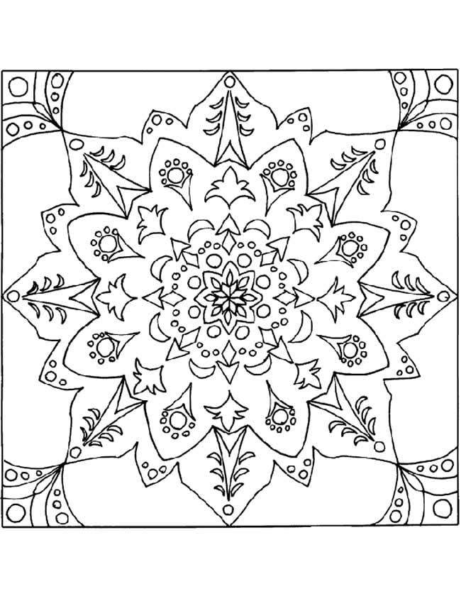 mandala bloemen kleurplaat
