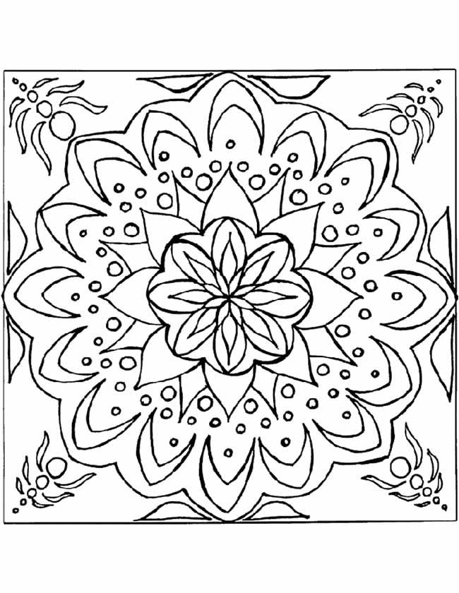gratis kleurplaten mandala