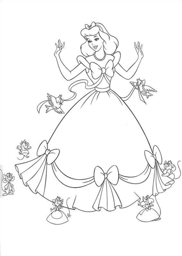 Gratis Kleurplaten Prinsessen.Kleuren Nu Prinses Assepoester 2 Kleurplaten