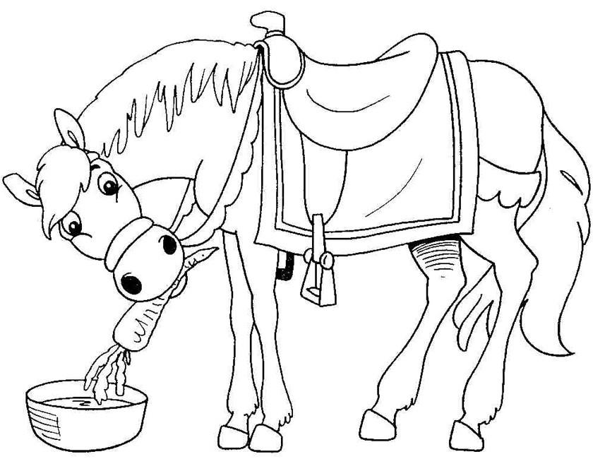 Het paard van sinterklaas kleurplaten for Disegni di cavalli da stampare