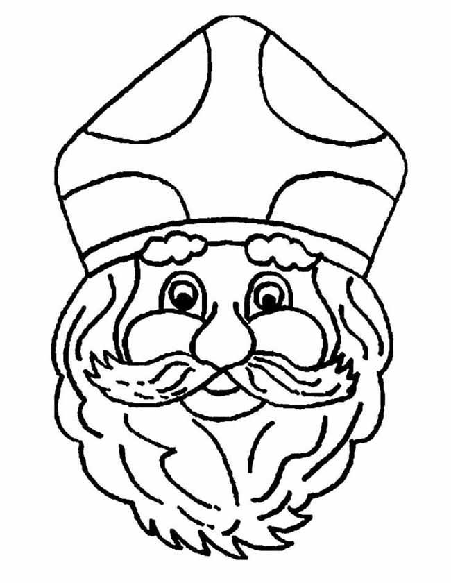 Kleurplaten Gratis Sinterklaas.Kleuren Nu Sinterklaas Portret Kleurplaten