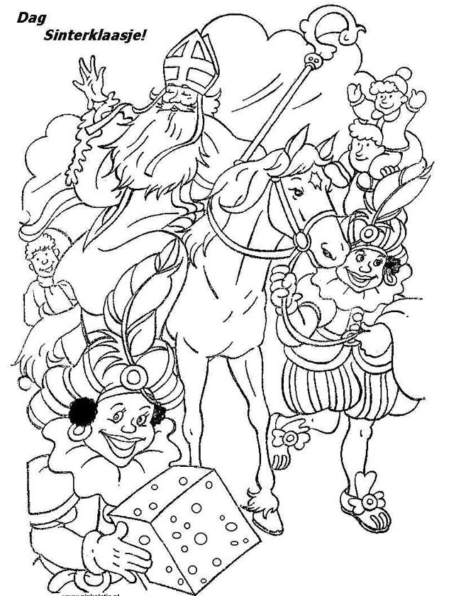 Kleurplaat Paard In De Wei Kleuren Nu Dag Sinterklaasje Kleurplaten