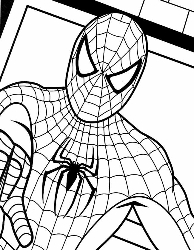 Gratis Kleurplaten Spiderman.Kleuren Nu Spiderman Portret Kleurplaten