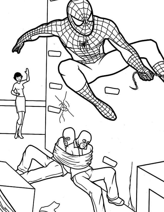 Gratis Kleurplaten Spiderman.Kleuren Nu Spiderman Boeven Kleurplaten