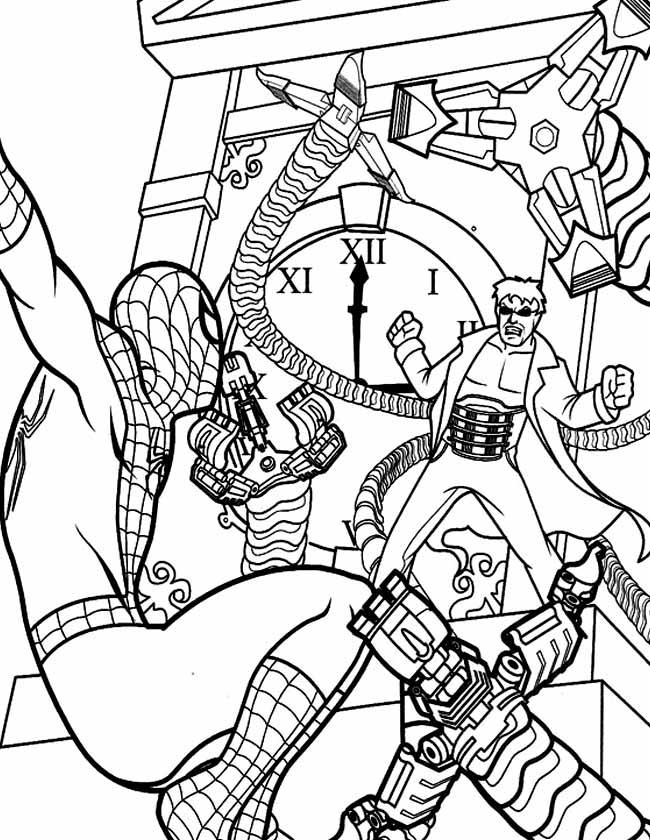 Gratis Kleurplaten Klokken.Kleuren Nu Spiderman Klok Kleurplaten