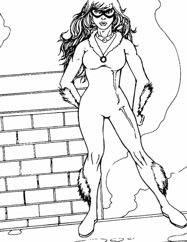 Gratis kleurplaat spiderman spiderwoman
