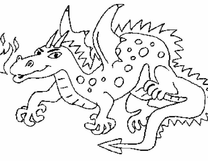 kleurplaten van draak
