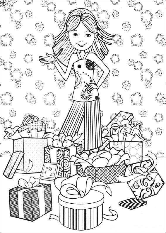 Kleurplaat Bumba Sinterklaas Kleuren Nu Meisje Krijgt Cadeau Kleurplaten