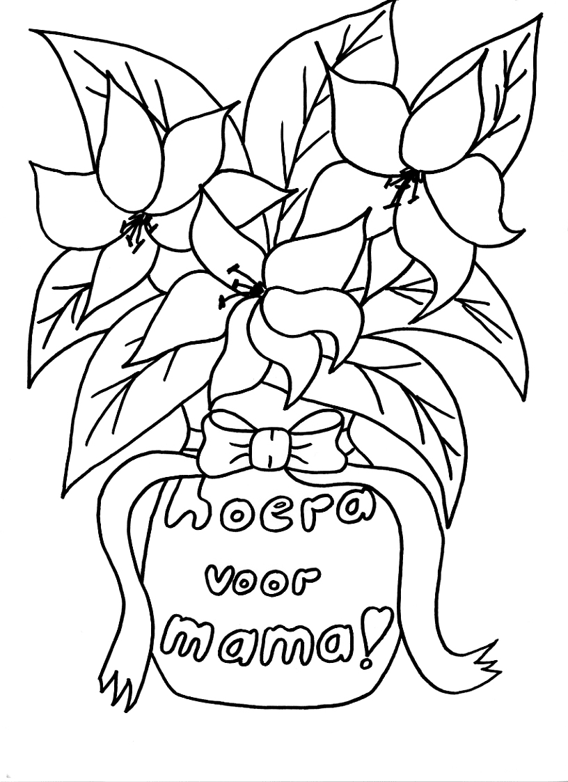 Kleurplaten Voor Volwassenen Verjaardag Kleuren Nu Boeket Voor Mama Kleurplaten