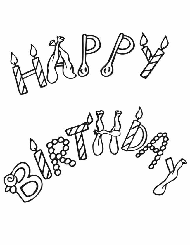 Kleuren Nu Happy Birthday Kleurplaten