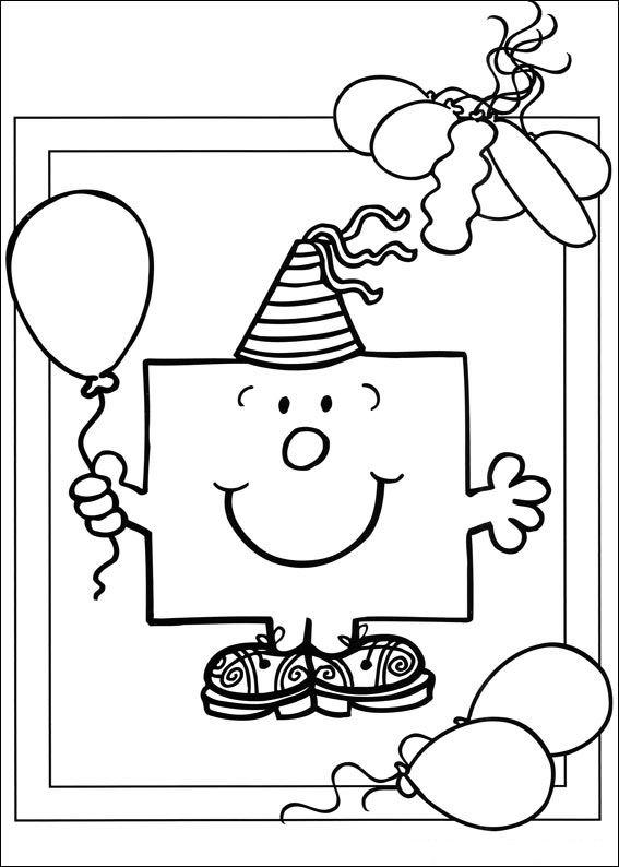 Gratis kleurplaat kleurplaat mr men met ballon