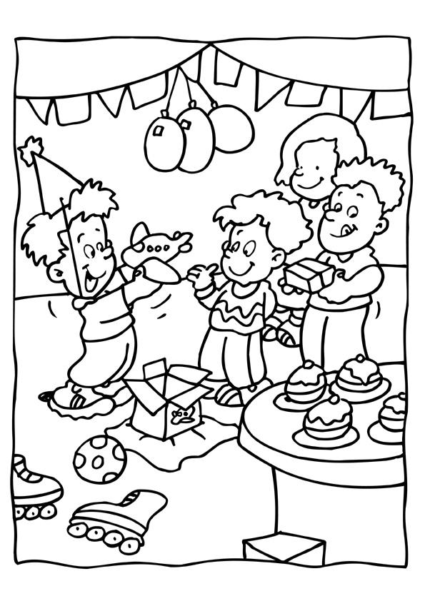 Sinterklaas Kadootjes Kleurplaat Kleuren Nu Verjaardagsfeest Kleurplaten