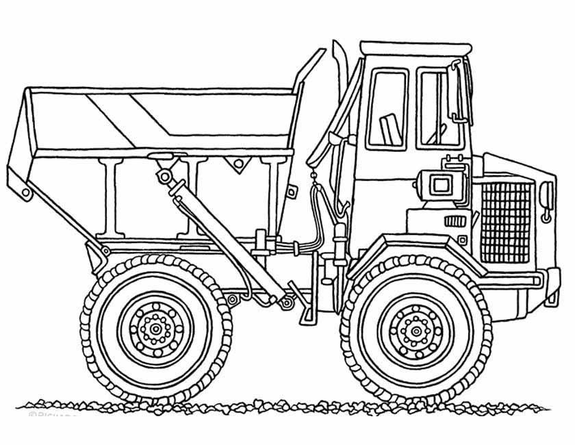 Gratis kleurplaat Grote bulldozer