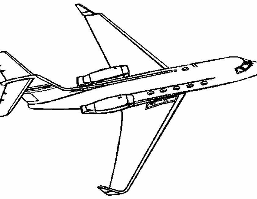 Gratis kleurplaat klein straalvliegtuig