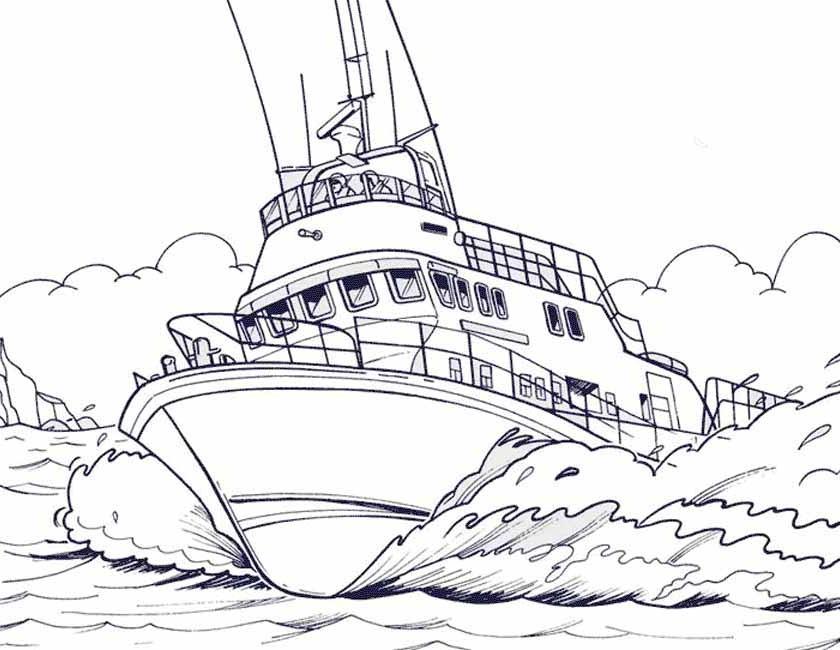 Gratis kleurplaat reddingsboot